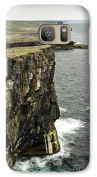 Galaxy Case featuring the photograph Inishmore Cliffs And Karst Landscape From Dun Aengus by RicardMN Photography