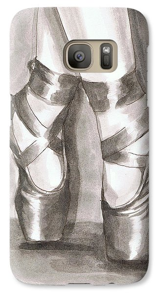Galaxy Case featuring the painting Ink Wash En Pointe by Sarah Farren