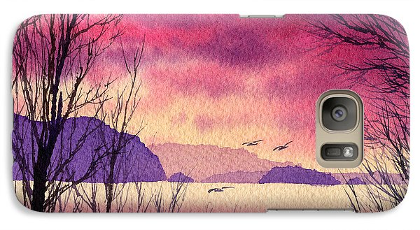 Galaxy Case featuring the painting Inland Sea Islands by James Williamson