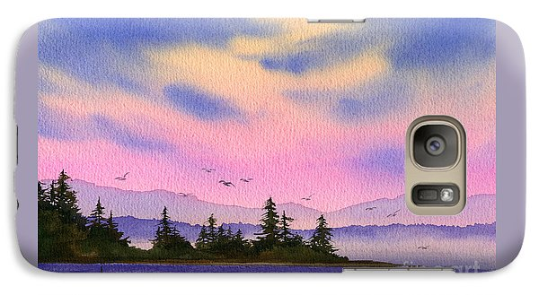 Galaxy Case featuring the painting Inland Sea Sunset by James Williamson