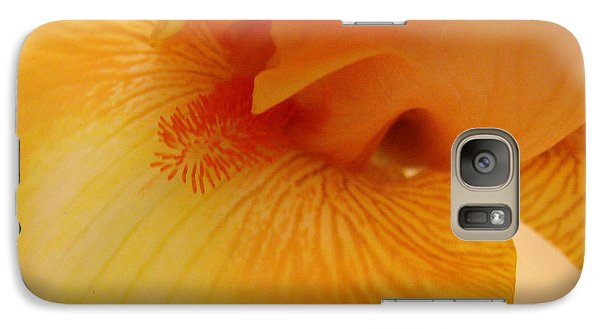 Galaxy Case featuring the digital art Inner Iris, Yellow, Close-up by Jana Russon
