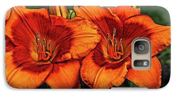 Galaxy Case featuring the photograph Innocent Fire by Judy Vincent