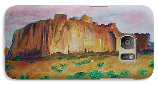 Galaxy Case featuring the painting Inscription Rock  by Eric  Schiabor