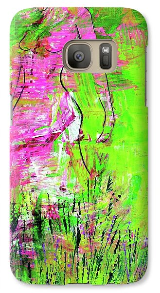 Galaxy Case featuring the painting Inside And Out by Julie Hoyle