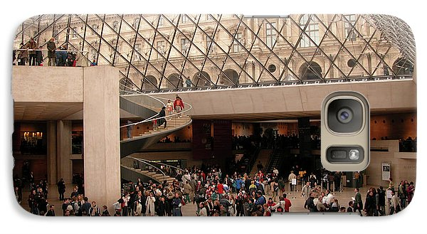 Galaxy Case featuring the photograph Inside Louvre Museum Pyramid by Mark Czerniec