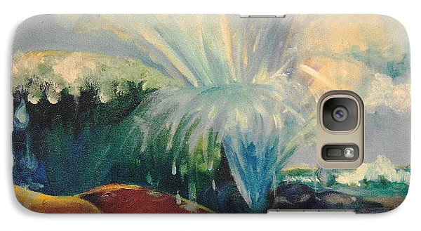 Galaxy Case featuring the painting Inside Mommy's Waters by Daun Soden-Greene