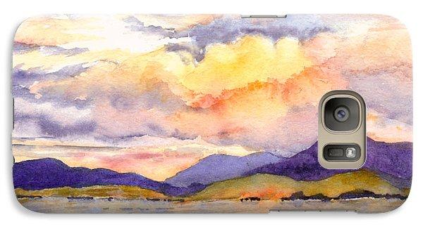 Galaxy Case featuring the painting Inside Passage Sunset - Alaska by Karen Mattson