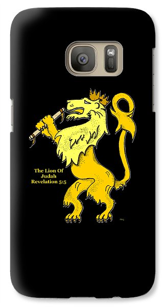 Galaxy Case featuring the drawing Inspirational - The Lion Of Judah by Glenn McCarthy Art and Photography