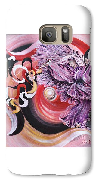 Galaxy Case featuring the painting Integrated Force by Sigrid Tune