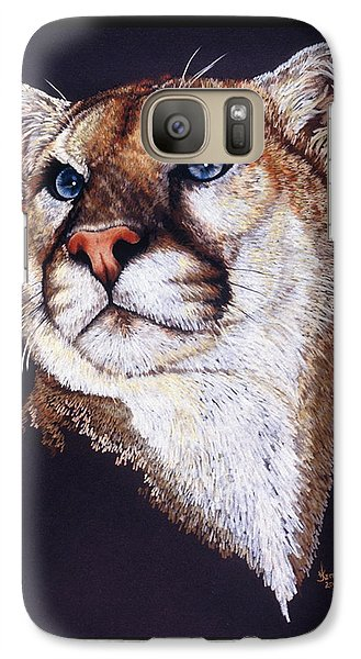 Galaxy Case featuring the drawing Intense by Barbara Keith