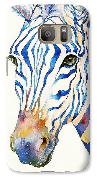 Intense Blue Zebra Galaxy S7 Case
