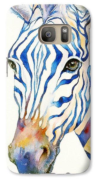 Intense Blue Zebra Galaxy Case by Arti Chauhan