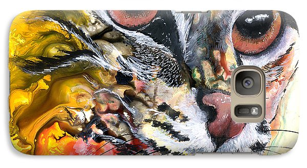 Galaxy Case featuring the painting Intensity by Sherry Shipley