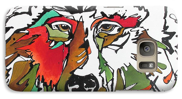 Galaxy Case featuring the painting Intent by Nicole Gaitan