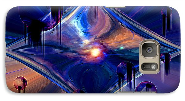 Galaxy Case featuring the digital art Interdimensional Portal by Linda Sannuti