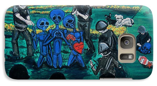 Galaxy Case featuring the painting Intergalactic Misunderstanding by Similar Alien