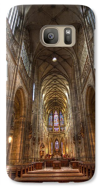 Galaxy Case featuring the photograph Interior Of Saint Vitus Cathedral by Gabor Pozsgai