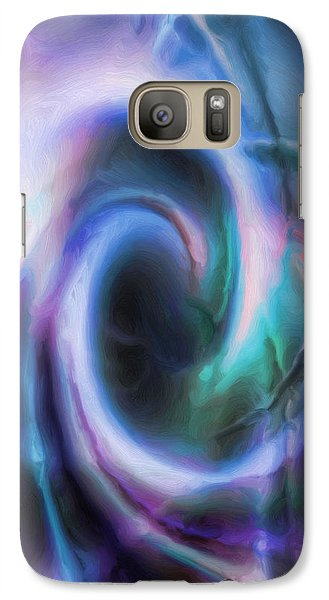 Galaxy Case featuring the drawing Internal Abstract by Tyler Robbins