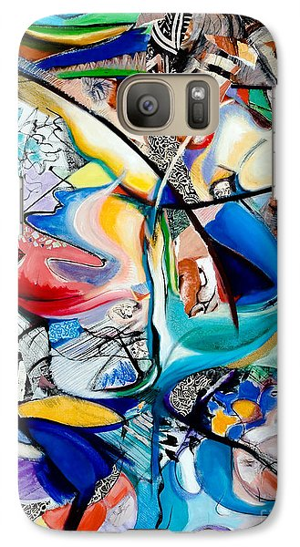Galaxy Case featuring the painting Intimate Glimpses - Journey Of Life by Kerryn Madsen-Pietsch