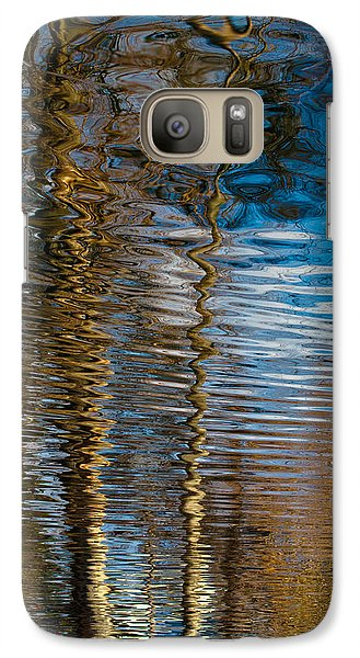 Galaxy Case featuring the photograph Into Chaos Blue by Tom Vaughan