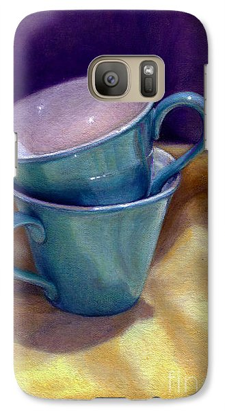 Galaxy Case featuring the painting Into Cups by Jane Bucci