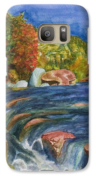 Galaxy Case featuring the painting Into Slide Rock by Eric Samuelson