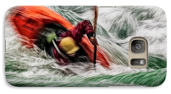Galaxy Case featuring the photograph Into The Drink by Brad Allen Fine Art