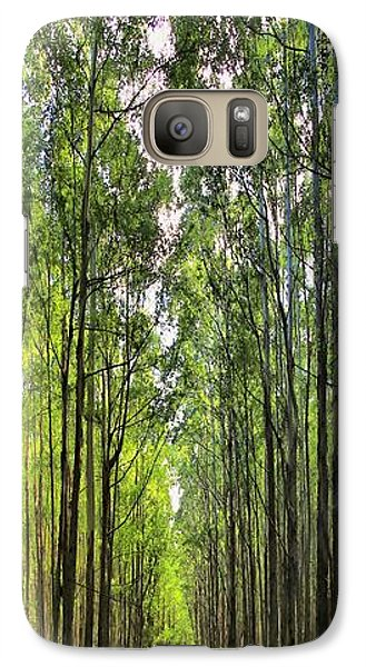 Galaxy Case featuring the photograph Into The Forest I Go by DJ Florek