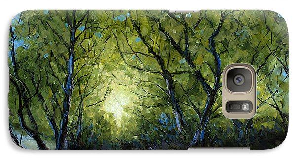 Galaxy Case featuring the painting Into The Light by Billie Colson