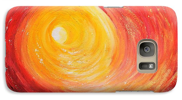 Galaxy Case featuring the painting Into The Light by Teresa Wegrzyn