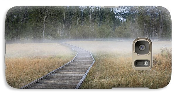 Galaxy Case featuring the photograph Into The Mist by Sandra Bronstein