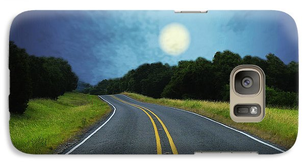Galaxy Case featuring the digital art Into The Night by Wendy J St Christopher