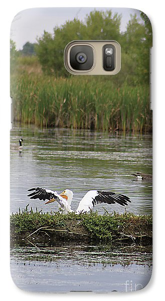 Galaxy Case featuring the photograph Into The Water by Alyce Taylor