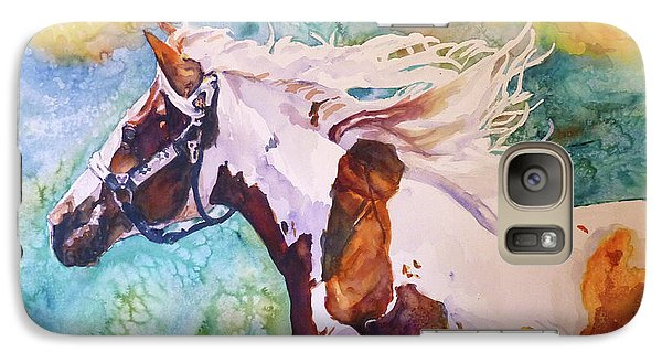 Galaxy Case featuring the painting Into The Wind by P Maure Bausch