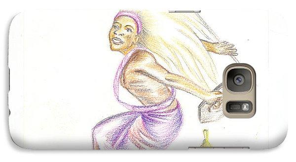 Galaxy Case featuring the painting Intore Dance 2 From Rwanda by Emmanuel Baliyanga