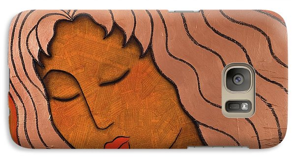 Galaxy Case featuring the mixed media Intuitive Listening by Gloria Rothrock