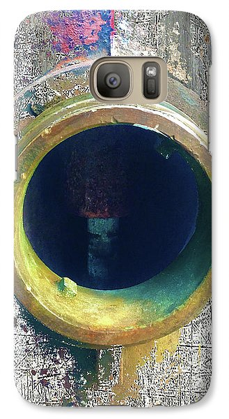 Galaxy Case featuring the mixed media Inturupted by Tony Rubino