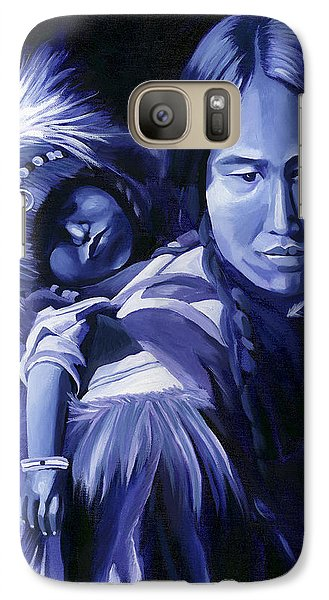 Galaxy Case featuring the painting Inuit Mother And Child by Nancy Griswold