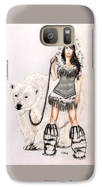 Inuit Pin-up Girl Galaxy S7 Case by Teresa Wing