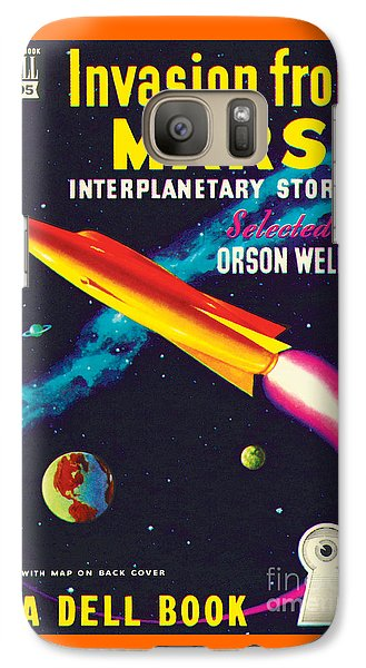 Galaxy Case featuring the painting Invasion From Mars by Malcolm Smith