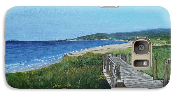 Galaxy Case featuring the painting Inverness Beach by Betty-Anne McDonald
