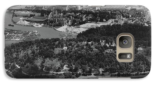 Galaxy Case featuring the photograph Inwood Hill Park Aerial, 1935 by Cole Thompson