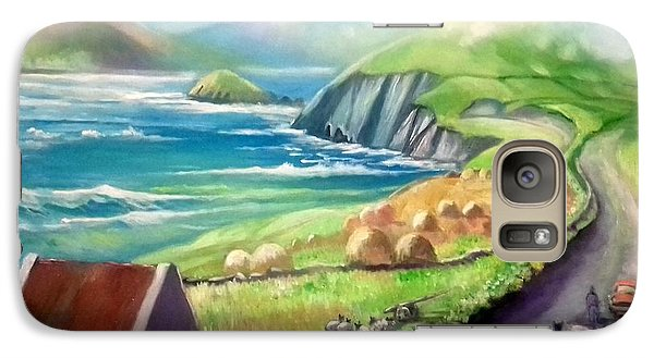 Galaxy Case featuring the painting Ireland Co Kerry by Paul Weerasekera
