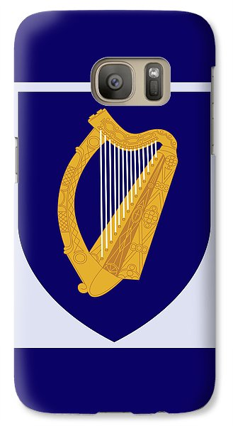 Galaxy Case featuring the drawing Ireland Coat Of Arms by Movie Poster Prints