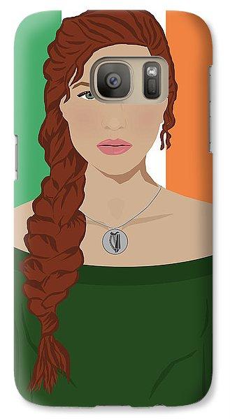 Galaxy Case featuring the digital art Ireland by Nancy Levan