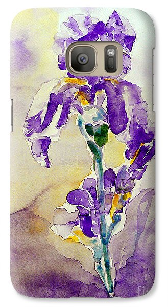 Galaxy Case featuring the painting Iris 2 by Jasna Dragun