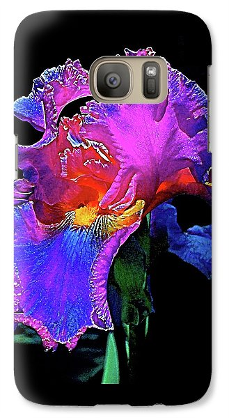 Galaxy Case featuring the photograph Iris 3 by Pamela Cooper