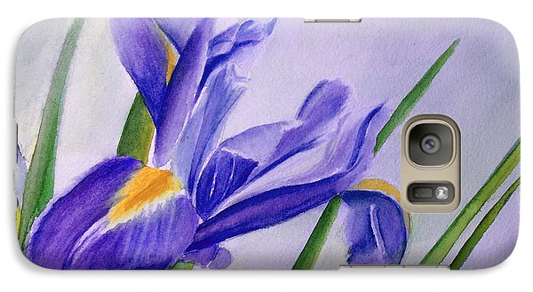 Galaxy Case featuring the painting Iris by Allison Ashton
