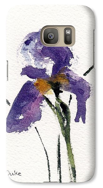 Galaxy Case featuring the painting Iris  by Anne Duke