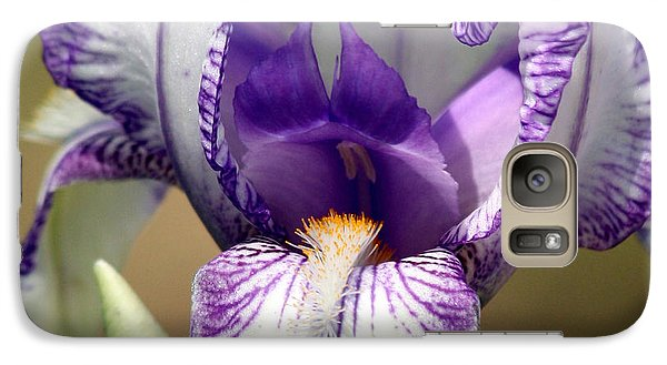 Galaxy Case featuring the photograph Iris Close-up by Sheila Brown